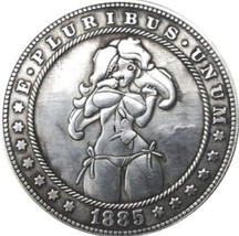 New Hobo Nickel 1885 Sexy Girl Morgan Dollar In Bikini at Beach Casted Coin - $11.39