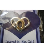 God's Heart Pin Brooch - Layered in 18kt. Gold & Sterling Silver - Brand... - $5.00