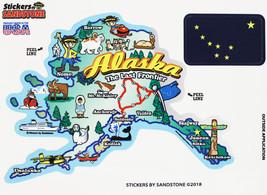 Alaska State Map Die Cut Sticker - $4.20