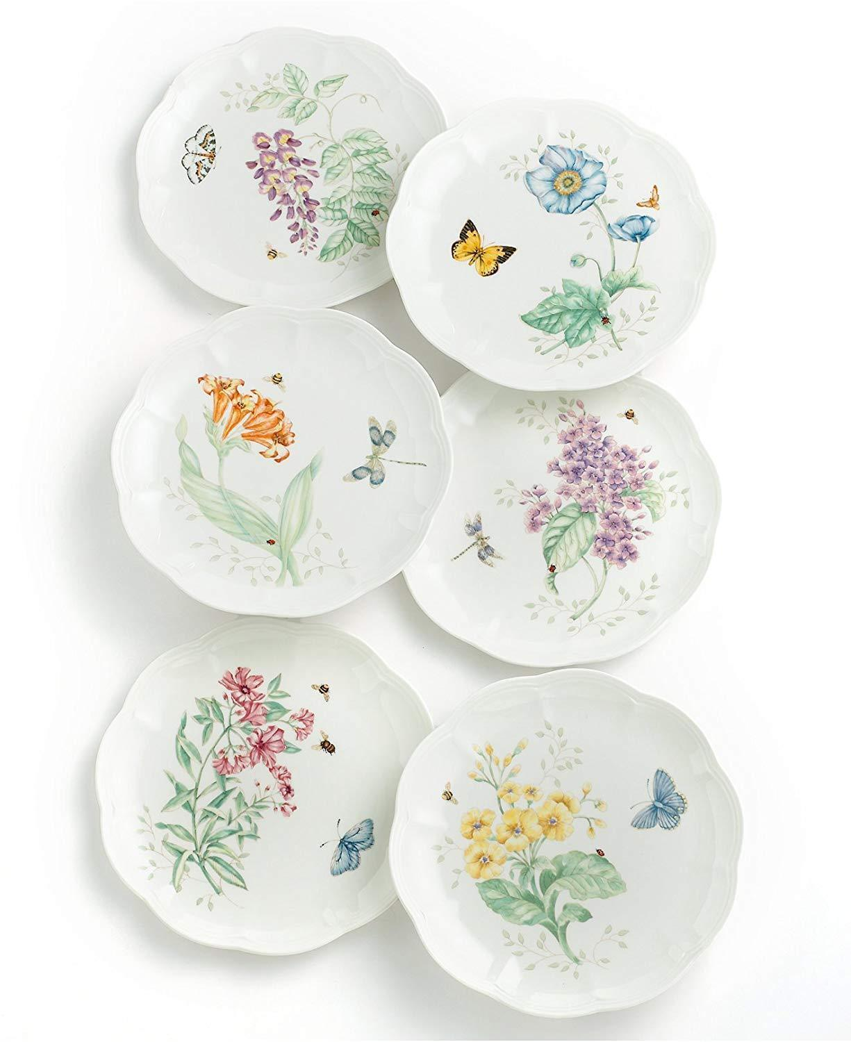 Lenox Butterfly Meadow Dinnerware Assorted Dinner Plates, Salad Plates Mugs +++