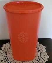 Tupperware Brand ~ Harvest Orange Container ~ 1222-4 ~ Retro ~ Vintage - $40.00