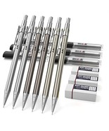 Nicpro 6PCS Mechanical Pencils,Metal Automatic Drafting Pencil 0.5 mm an... - $15.61