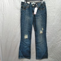 Levi's 518 Super Low Boot Cut Women's Jeans Size 11 Destroyed - $34.99