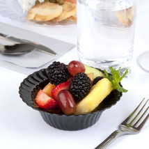 Plastic 5 Oz. Black Round Dessert Bowl/Case of 180 - €44,96 EUR