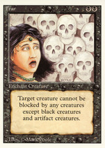 Magic: The Gathering 3rd Edition - Fear - $0.25