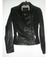New Bod & Christensen Rebecca Lamb Leather/Fabric Black Jacket Size XS - $289.99
