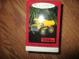 Hallmark Keepsake 1996 Tonka Mighty Dump Truck Yellow Metal Ornament NEW - $12.38