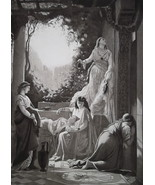 FOOLISH VIRGINS Jewish Wedding Day - 1888 Fine Antique Print - $21.60