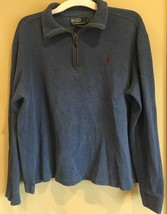 Polo Ralph Lauren Mens Sweater Quarter Zip Blue Pullover Large - $15.00