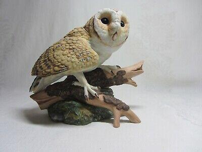 Barn Owl Hamilton Collection Maruri Majestic Owl Night Vtg Figurine 1986 certifi