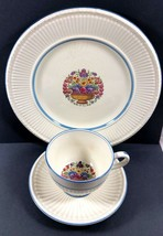 Wedgwood Barlaston Ofetruria Whitstable set of 3 dinner plate tea cup &... - $44.55