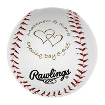 Personalized Baseball Birthday ball Wedding Gift Ball Wedding Announcement ball - $9.99
