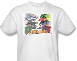 Justice League JLA T-shirt white cotton graphic tee super hero comics JLA234 image 1