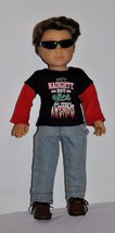 DOLL CLOTHES CUSTOM MADE FOR AMERICAN GIRL DOLL LOT- BOY CHRISTMAS OUTFIT - $14.99