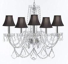 Swarovski Crystal Trimmed Murano Venetian Style Chandelier Crystal Light... - $287.13