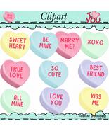 Conversation Hearts  Clip Art - $1.35