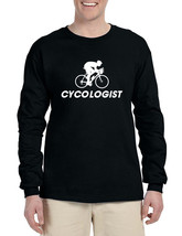 Men's Long Sleeve Cycologist Cool Cycling Funny Sport Tee - $14.94+