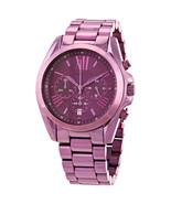 BRAND NEW MICHAEL KORS MK6721 BRADSHAW PURPLE STEEL CHRONOGRAPH WOMEN'S ... - £121.13 GBP