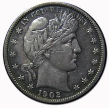 1902S Liberty Barber Head Half Dollar 50c Silver Coin Lot MZ 4529