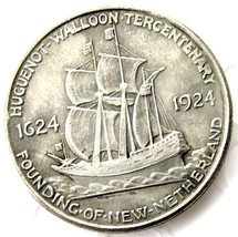 1924 Huguenot Walloon Tercentenary half dollar Casted Coin New Netherlands - $11.99