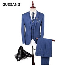 2017new style Single button cotton and wool wedding suits men,blazer men... - $143.10