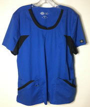 Dickies Blue Women's Scrubs Top  Size XL Uniform Work Clothing Specialty - $9.00