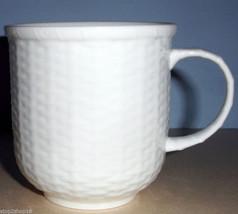 Wedgwood NANTUCKET Basket Beaker Mug White Embossed New - $24.90
