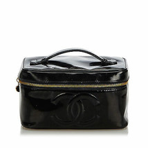 Pre-Loved Chanel Black Patent Leather CC Vanity Bag Italy - $498.61