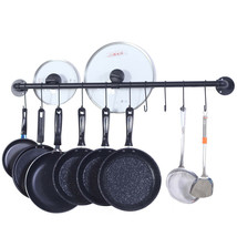 Kitchen Pot and Pan Hanger with 10 Hooks Wall Mount Rack Drainer Storage... - $19.15