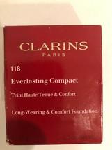 Clarins Everlasting Cushion Foundation #118 Sienna NIB .5 oz SPF 50 - $14.84