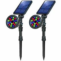 OSORD Solar Lights Outdoor Waterproof 18 LED Multicolor Solar Landscape ... - $54.78