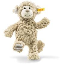 "Steiff Stuffed Monkey - Soft And Cuddly Plush Animal Toy - 8"" Authentic ... - $21.60"