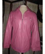 Womens MM ESSENTIALS BY MARC MATTIS PRetty Pink Insulated Rain Coat Jack... - $13.03