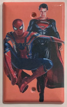 Spiderman Superman Light Switch Outlet Toggle Rocker Wall Cover Plate Home Decor image 2