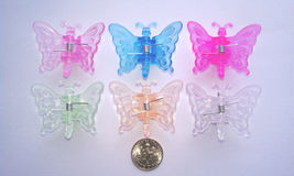 Butterfly clips for orchids and other plants, 20 pcs/pack, 6 colors - $7.50