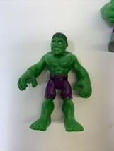 Playskool Marvel Super Hero Adventures Avengers Thor Iron Man Hulk 4 Figures - $18.99