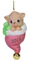 Precious Moments Pur-Fect Love 2015 Cat Ornament - $7.92