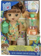Fast Shipping Baby Alive Magical Mixer Baby Doll Tropical Treat Brunette NEW - $37.94