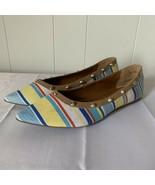 14th & Union Nordstrom Rack Kiana Studded Slip On Flats Shoes Striped Si... - $22.74
