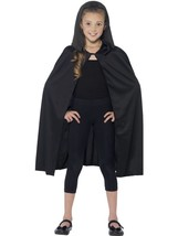 Hooded Cape, Black, One Size - $9.38