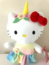 "Jumbo 15"" Sanrio Super Cute Hello Kitty Unicorn Spandex Plush Toy Doll NEW.Large - $25.47"