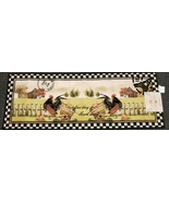 """JUMBO PRINTED KITCHEN RUG/RUNNER (18"""" x 48"""") 2 FRENCH ROOSTERS AT THE FA... - £21.06 GBP"""