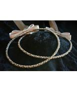 Greek Orthodox Wedding Stefana Crown Set Silver Grey Clear Hand Wired Pearl - $85.45