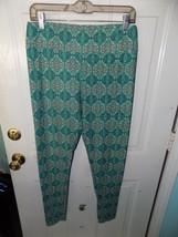 LuLaRoe Gray & Aqua Leggings Size Tall and Curvy Women's NWOT - $24.92