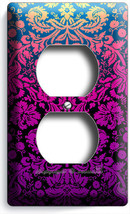 Damask Purple Luxury Pattern Electrical Outlet Wall Plate Cover Modern Art Decor - $8.99