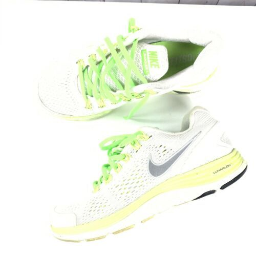 NIKE sneakers Womens size 7 white neon green +4 OG SHOES 531988-103