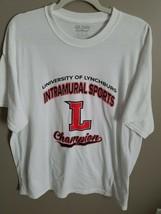 University of Lynchburg Champion- Intramural white t-shirt. - $10.39