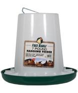 Harris Farms Green/white Free Range Plastic Hanging Poultry Feeder 7 Pou... - $21.22