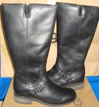 UGG Australia DAHLEN Tall Black Leather Fully Lined Boots Size US 8 NEW #1006043 - $137.56