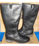 UGG Australia DAHLEN Tall Black Leather Fully Lined Boots Size US 8 NEW ... - $137.56